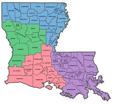 louisiana map areas state map louisiana ffa