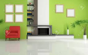 Greenliving by Simple Red And Green Living Room With Additional Home Decoration