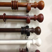 Double Rod Curtain Hardware Incredible Wood Curtain Rod With Fashionable Finalsrings Brackets