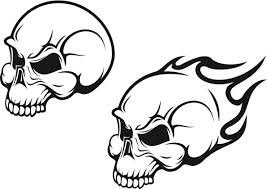easy skull tattoo designs for beginners black and white deer
