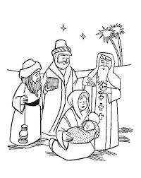 baby jesus coloring page three kings on the desert with mary and baby jesus coloring pages