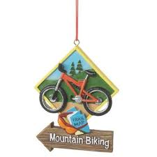 mountain biking ornament ornaments