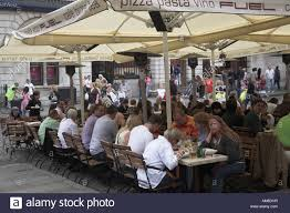 family restaurants covent garden people eating lunch at outdoor tables at an italian restaurant