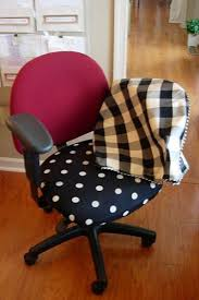 Fabric Covered Desk Chairs The Fabric Is Fun In The Photo But Any Fabric Would Work How To