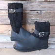 womens ugg boots usa ugg australia womens cassidee leather black boots us