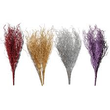 glitter sparkle bushes grasses stems for floral decorations on