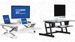 Office Desk Risers Go From Sitting To Standing To Sitting Again With These Discounted