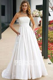 wedding dresses for sale online beading lace strapless taffeta a line wedding dress sale online