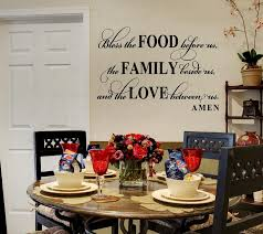 dining room wall decals bless this food before us wall decal dining room meal prayer wall