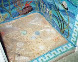 mosaic tile design of underwwater and shower installation in