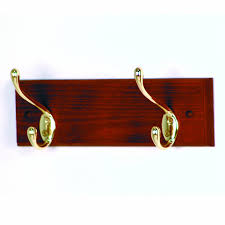 amazon com wooden mallet 12 inch 2 nickel hook coat rack light