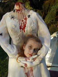 Scary Halloween Costumes Kids Girls Haunting Headless Bride Costume 9