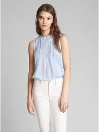 swiss dot blouse sleeveless lace blouse in swiss dot gap
