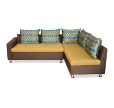 buy nilkamal georgetown lounger sofa brown mustard online at home