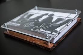 modern wooden wedding album box www echosusa