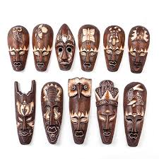 wall masks indonesia imported manual solid wood carving wall hanging home