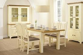 home design cute painted oak dining table and chairs cream