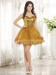 gold quince dresses glitter gold a line sequin sweetheart organza quinceanera