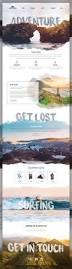Design Site by Landingpage For A Adventure Travel Website Website Pinterest