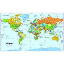 World Physical Map by Buy World Map Reversible Political And Physical A0 Tts