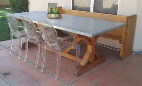 Cedar Table Top by Ana White Spanish Cedar X Base Farmhouse Table With Zinc Top