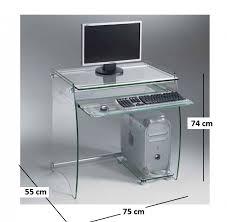 bureau ordinateur en verre bureau plateau verre topiwall