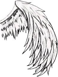 simple angel wings drawing free download clip art free clip