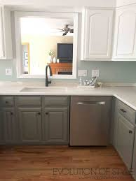 simply white and chelsea gray kitchen evolution of style gray and white two toned kitchen cabinet makeover