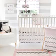 Modern Baby Crib Sheets by Baby Bedding Sets Pink And Grey Chevron Crib Bedding Set