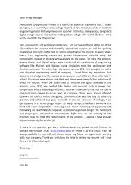 electrical engineer cover letter template u2013 rimouskois job resumes