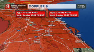 Clermont Fl Map Most Of Central Florida Under Tornado Watch Until 6 A M Monday Wftv