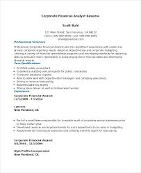 High Profile Resume Samples by Financial Analyst Resume 10 Pdf Word Documents Download Free