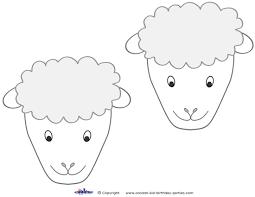medium printable sheep face decorations