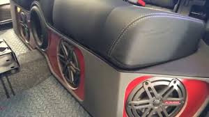 jeep wrangler speaker box jeep punisher edition ep 45 custom jl seat box installed