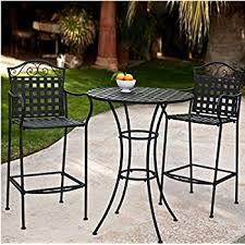 patio bistro table and chairs darby home co dallas bar height bistro table set reviews wayfair