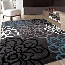 Living Room With Area Rug - amazon com rugshop contemporary modern floral flowers area rug 5