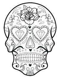printable coloring pages sugar skulls sugar skull printable coloring pages printable sugar skull coloring