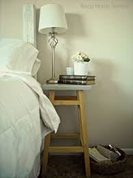 Small Bedroom Side Table Ideas Small Bedside Table Ideas With White Sade Table Lamps And Wood