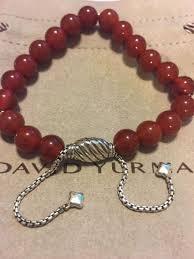 red bead bracelet images David yurman silver red bead bracelet ebay jpg