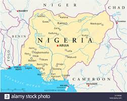 Chad Map Nigeria Political Map With Capital Abuja National Borders Most