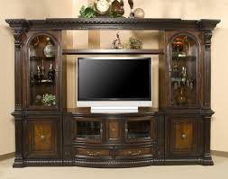 glass cabinet doors for entertainment center grand estates entertainment center w 2 glass cabinet doors by