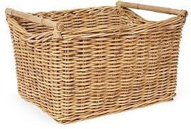 Long Wicker Basket Living Room Storage Throw Blanket Throw