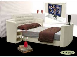 Bed Frame With Tv In Footboard Amazing King Size Leather Bed With Automatic Tv Lift Frame On Sale