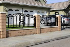 simple iron fence home gardens