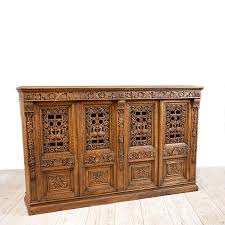 carved cabinet door panels french antique four door carved cabinet with pierced panels bonnin