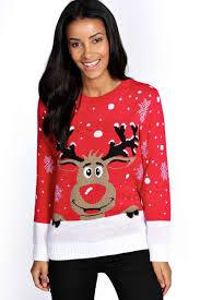 christmas jumper reiny reindeer christmas jumper boohoo