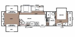 Forest River 5th Wheel Floor Plans 2008 Sierra By Forest River Fifth Wheel Series M 375qbq Specs And