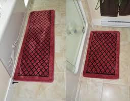 Burgundy Bathroom Rugs Memory Foam Rug Glorema