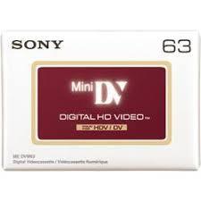 hdv cassette cassette vid礬o minidv sony dvm63hdv 63 min 1 pc s conrad fr