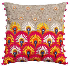 folk kutch embroidery cushion cover from the exclusive home decor